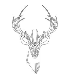 Deer, design tattoo but maybe with some red and thicker black lines
