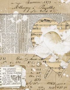 Journal, altered book pages