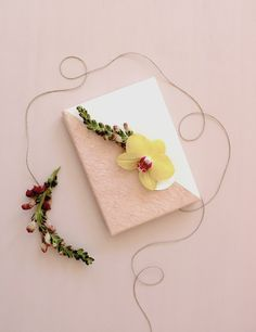 pretty wrapping with real flowers