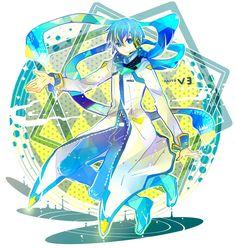 Creds @ 7 : 24 on Pixiv Kaito Shion, Vocaloid Kaito, Kaai Yuki, Vocaloid Characters, Mikuo, Iroha, Sailor Moon, Character Design, Princess Zelda