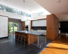 Kitchen Brazilian Walnut Flooring Design, Pictures, Remodel, Decor and Ideas - page 10 @Arik Howie This is neat.