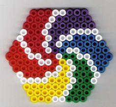 Sechseck Bügelperlen / Hexa perler beads