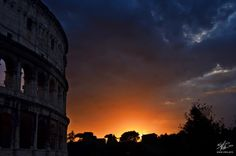 Sunrise at the Colosseum in Rome
