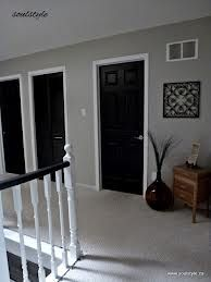 black doors white trim and gray walls....sigh. So pretty.