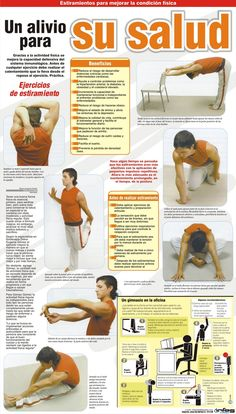 Ejercicios para la salud Health And Nutrition, Health And Wellness, Health Fitness, Hiit, Yoga Fitness, Fitness Tips, Health Unit, Life Guide, Relaxing Yoga