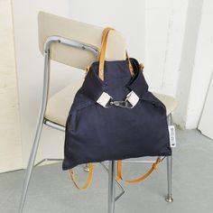 Lookbook - genreDenis Navy Handcrafted Convertible Backpack / Shoulder Bag