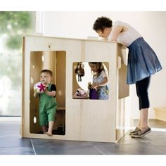 Gitane Royce of Modern Playhouse. These earth- and kiddo-friendly playhouses make cozy modern spots for children to play and imagine Modern Playhouse, Indoor Playhouse, Build A Playhouse, Plastic Playhouse, Playhouse Furniture, Cubby Houses, Play Houses, Modern Kids Toys, Plywood House