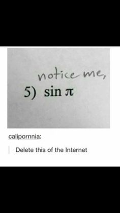 The fact I know what sin π means