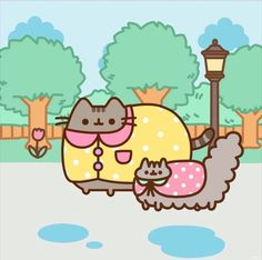 Happy rainy day with Pusheen & Stormy! Party 2 _______________________________________________________________________ Still don't know why are they in the rain when they don't like water. Gato Pusheen, Pusheen Love, Pusheen Stuff, Pusheen Plush, Kawaii Drawings, Cute Drawings, Pusheen Christmas, Pusheen Stormy, Image Chat