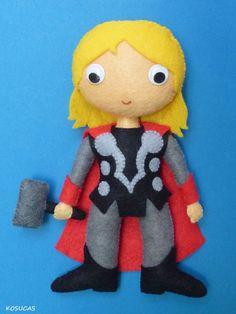 PDF patter to make a felt Thor. por Kosucas en Etsy