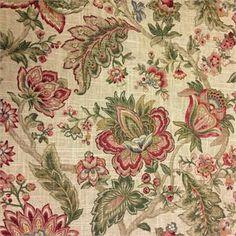 Mandara Sisal Floral Print Fabric;