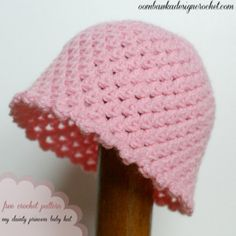 My Dainty Princess Baby Hat Pattern This pretty and dainty baby hat is crocheted using the Anne Geddes Baby yarn. The finished hat is lightweight and perfect for the new babies in your life. Crochet Baby Hats Free Pattern, Baby Hat Patterns, Crochet Cap, Crochet Beanie, Love Crochet, Baby Blanket Crochet, Crochet For Kids, Crochet Patterns, Crocheted Hats