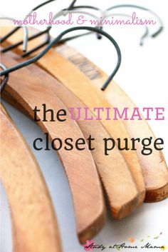 The Closet Purge ⋆ Sugar, Spice and Glitter Homework Organization, Small Closet Organization, Household Organization, Home Organization Hacks, Organizing Tips, Organising, Simplicity In Life, Cleaning Closet, Cleaning Tips