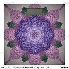 Kaleidoscope Hydrangea Bathroom Scale