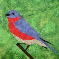 Free bluebird design - Paper Piecing Quilt Patterns, Animals and Flowers