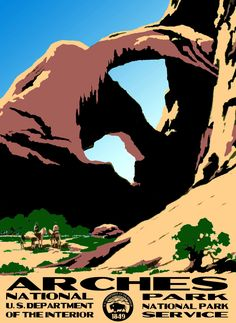 Arches National Park WPA Poster.