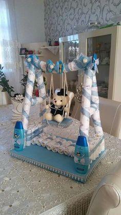 Fancy Baby Shower, Peach Baby Shower, Baby Shower Crafts, Baby Shower Favors, Shower Gifts, Baby Boy Shower, Baby Shower Baskets, Baby Shower Diapers, Baby Shower Presents