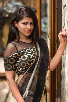 Black and gold faux off shoulder blouse #banaras #brocade #blouse #black #banaras