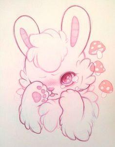 "wzkdpoundpuppy: "" sorry my little face is plain as vanilla taste "" Cute Kawaii Drawings, Cute Animal Drawings, Kawaii Art, Pretty Art, Cute Art, Bunny Art, Furry Drawing, Cartoon Art Styles, Art Drawings Sketches"