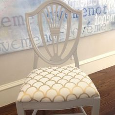 Gold Scallop Upholstery