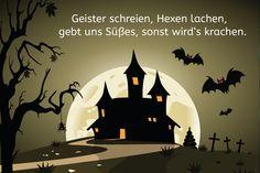 Halloween Spruch: Geister schreien