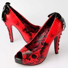 Iron Fist American Nightmare Platform Shoe Red