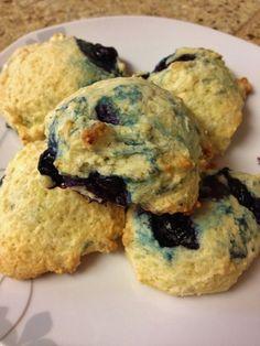 Blueberry Yogurt Cookies ... healthy fruity cookies