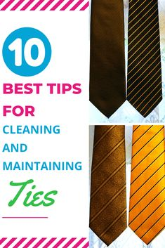 Besides figuring out how to clean a tie, there are several other things to know about cleaning and maintaining neck ties. Our top 10 tips will make you a pro before you know it. Laundry Storage, Diy Storage, Doing Laundry, Neck Ties, Things To Know, Knowing You, Cleaning, Make It Yourself, Simple