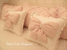 Kit de Cama 100% Algodão contendo 6 peças: Tecidos Utilizados: Jacquard Rosa 300 . . .