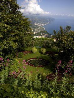 The Gardens of the Villa Cimbrone in Ravello, Amalfi Coast, Campania, Italy.