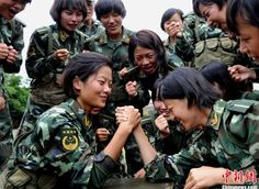 chinese military women images | Images of the female soldiers of the People's Armed Police (CPAP),