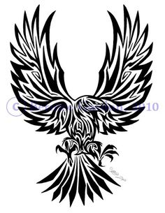 fa8dc1e0a Eagle Tribal Tattoo By Tarkheki On Deviantart Design | Tribal tattoos ... Tribal  Eagle