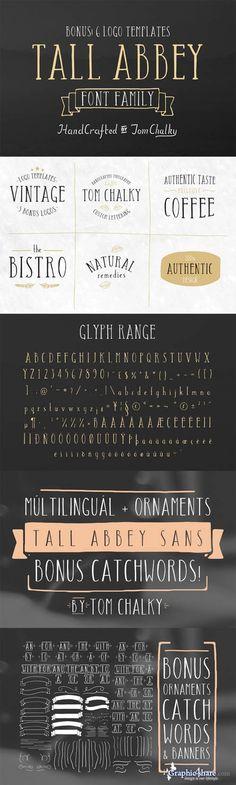 Tall Abbey 2 Fonts plus Ornaments