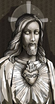 Sacred heart of jesus holy card heart of jesus, jesus is lord, jesus prayer Jesus Prayer, Jesus Art, Prayer Cards, Jesus Is Lord, Catholic Art, Religious Art, Image Jesus, Jesus Drawings, Brust Tattoo