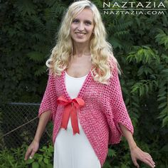 DIY Free Pattern and YouTube Tutorial Video for Easy Crochet Mesh Sweater Cardigan Top Wrap Clothes Clothing by Donna Wolfe from Naztazia