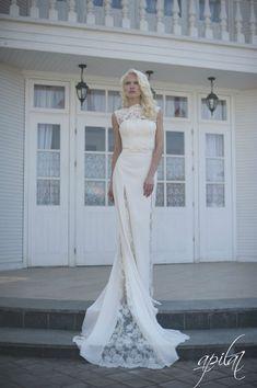 Long Wedding Dress Ivory Wedding Dress by ApilatCreativeAtelie, $960.00
