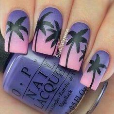 Tropical Palm Tree Nails