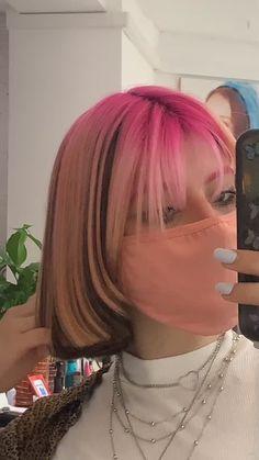 Pink Hair Dye, Hair Dye Colors, Dye My Hair, Shot Hair Styles, Curly Hair Styles, Hair Inspo, Hair Inspiration, Hair Color Streaks, Pink Streaks