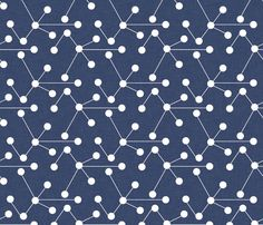 delft molecule fabric by holli zollinger, on Spoonflower