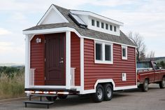 """Cute & energy-efficient Tiny House... HOWEVER it is loaded with plastics = defeats the purpose! You can go over there and click on the """"WTF"""" at the bottom of the article to show the plastic corporation that not all of us are brain-dead."""