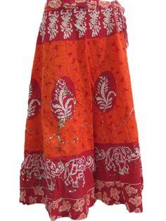 Boho Gypsy Skirt Orange Batik Print Cotton Skirts for Summer Mogul Interior,http://www.amazon.com/dp/B00C1BZDZI/ref=cm_sw_r_pi_dp_IrQbsb0V75NCA5H7