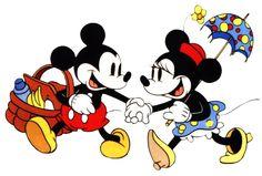 black and white mickey minnie clipart - Quoteko.