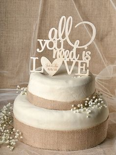 Hey, I found this really awesome Etsy listing at https://www.etsy.com/listing/195180530/rustic-cake-topper-wood-cake-topper-all