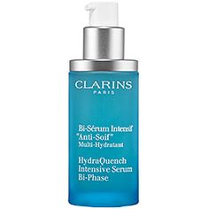 Clarins - HydraQuench Intensive Serum Bi-Phase #sephora What it is formulated to do: This non-oily serum hydrates, softens, and protects. It restores comfort and a youthful radiance while smoothing the appearance of wrinkles. Enriched with katafray bark extract and Inca peanut extract, it leaves skin youthful-looking and delicately scented.