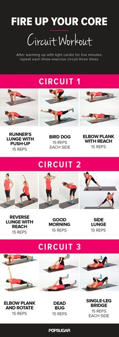 Pin for Later: Printable No-Equipment At-Home Workouts Fire Up Your Core Circuit Workout