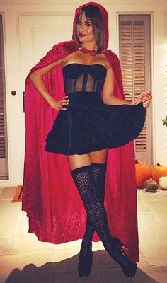 Easy Halloween Costume Ideas to Steal From Your Favorite Stylish Celebs | Lea Michele as Little Red Riding Hood