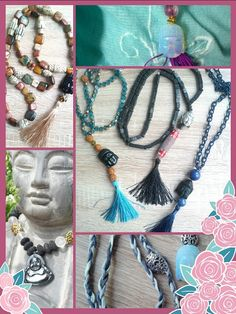 Buddha - Malas auf www. Buddha Armband, Tassel Necklace, Tassels, Amethyst, Jewelry, Fashion, Suitcase, Pink Quartz, Crystals