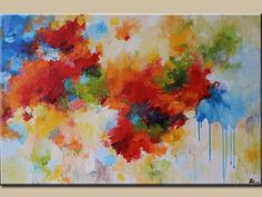 Red abstract painting ,modean ,Acrylic abstract painting-Original Fine Art , Artwork,