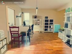 "Check out my #interiordesign ""Design office"" from #Homestyler http://autode.sk/1eFos1W"