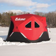 Eskimo - Ice Fishing Augers Ice Fishing Shelters and Ice Fishing Gear - FatFish 949 Pop-Up Shelter & Eskimo Fatfish Six Sided Insulated Ice Shelter   Ice Fishing   Ice ...